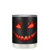 Spooky Halloween Pumpkin on Black 10 oz Lowball Tumbler