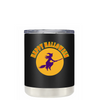 Happy Halloween Witch on Black 10 oz Lowball Tumbler