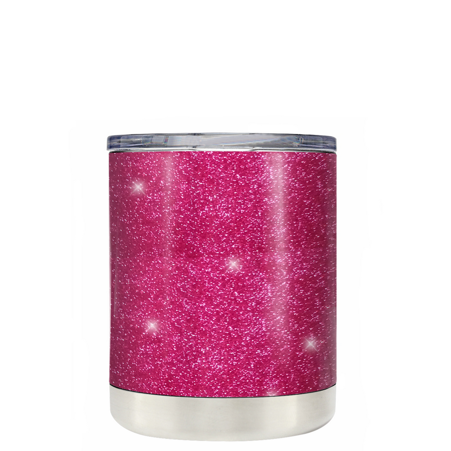 Custom TREK Pink Glitter 10 oz Design Your Own Tumbler
