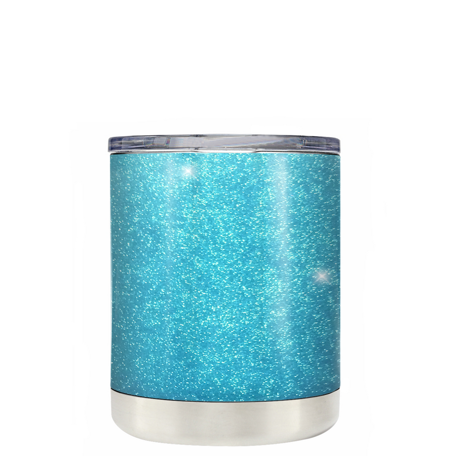 Custom TREK Teal Glitter 10 oz Design Your Own Tumbler