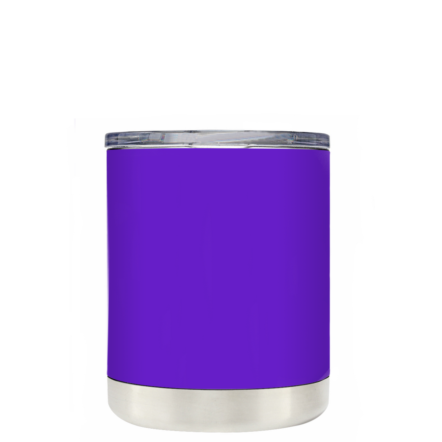 Cyclops Cutie Monster on Purple 10 oz Lowball Halloween Tumbler