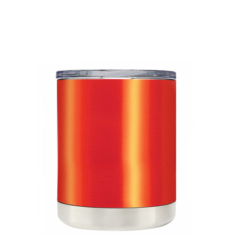 Custom TREK Orange Translucent 10 oz Design Your Own Tumbler