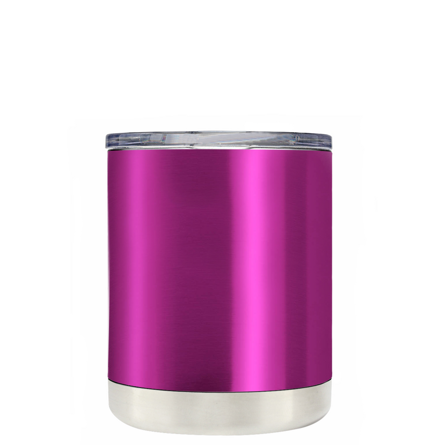 Custom TREK Pink Translucent 10 oz Design Your Own Tumbler