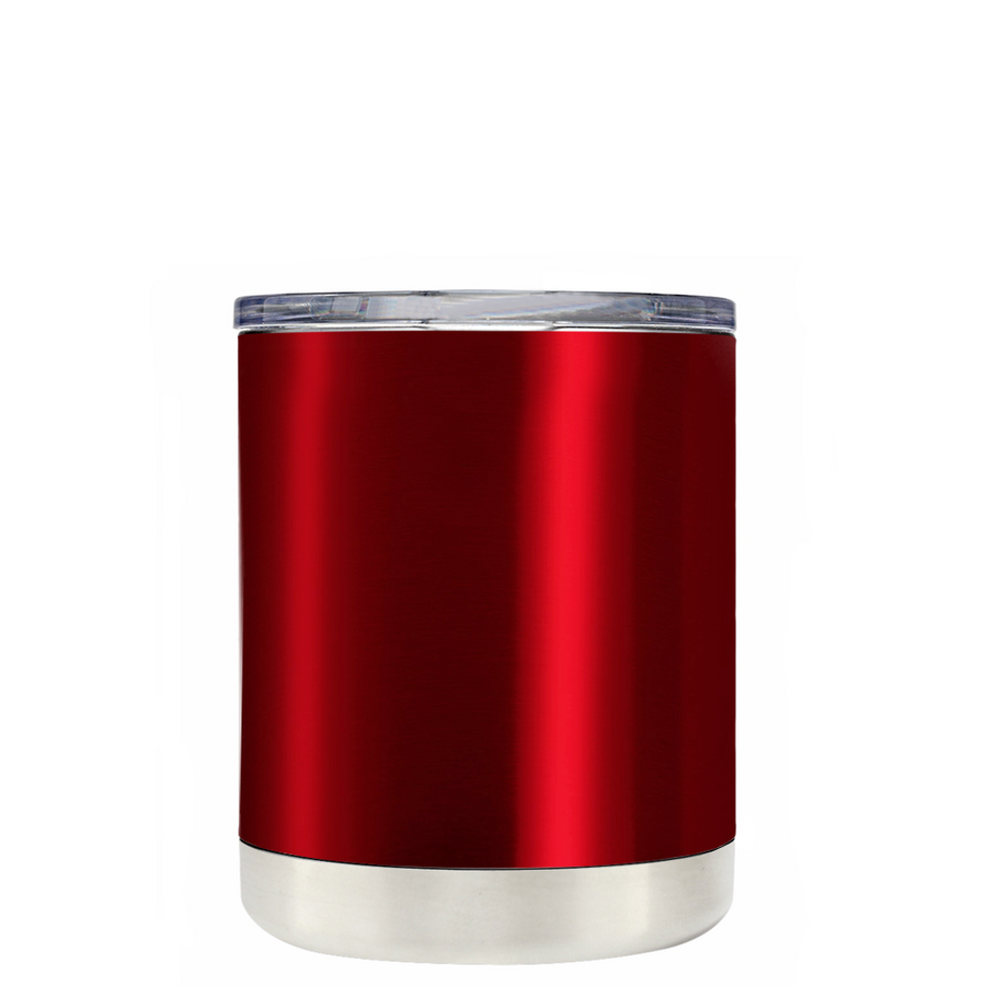Custom TREK Red Translucent 10 oz Design Your Own Tumbler