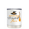 Resting Witch Face on White 10 oz Lowball Halloween Tumbler