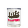 Halloween Living Zombies on White 10 oz Lowball Tumbler