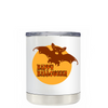 Happy Halloween Bat on White 10 oz Lowball Tumbler