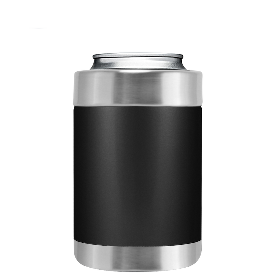 TREK Black Matte Can and Bottle Cooler