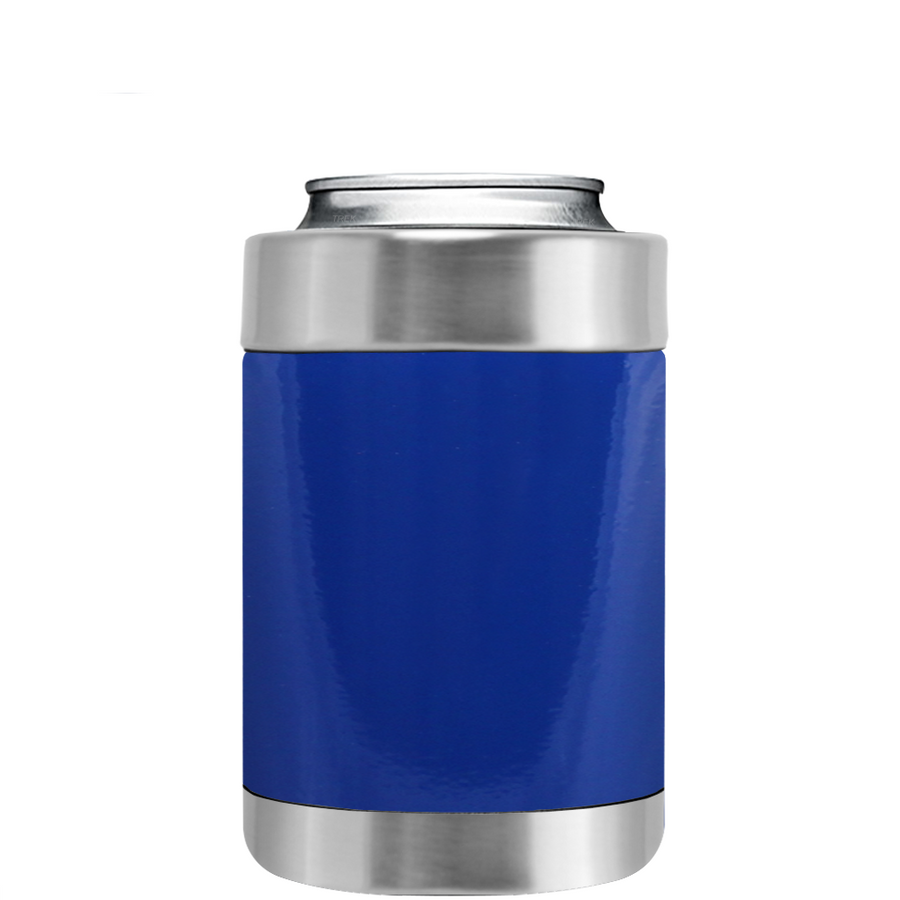 TREK Blue Gloss Can and Bottle Cooler