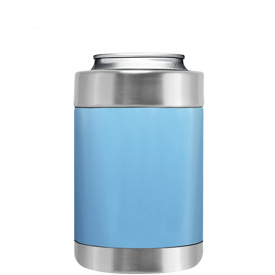 TREK Pastel Blue Gloss Can and Bottle Cooler