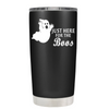 Here for the Boos on Black 20 oz Halloween Tumbler