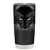 Black Cat on Black 20 oz Halloween Tumbler