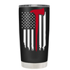 TREK Firefighter Axe Thin Red Line Flag on Black 20 oz Tumbler