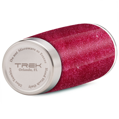 Trek Cherry Red Glitter 20 oz Tumbler Cup