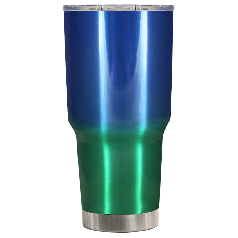 TREK Blue Green Translucent Ombre 30 oz Tumbler