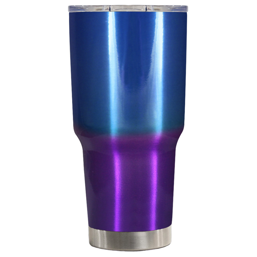TREK Blue Purple Translucent Ombre 30 oz Tumbler