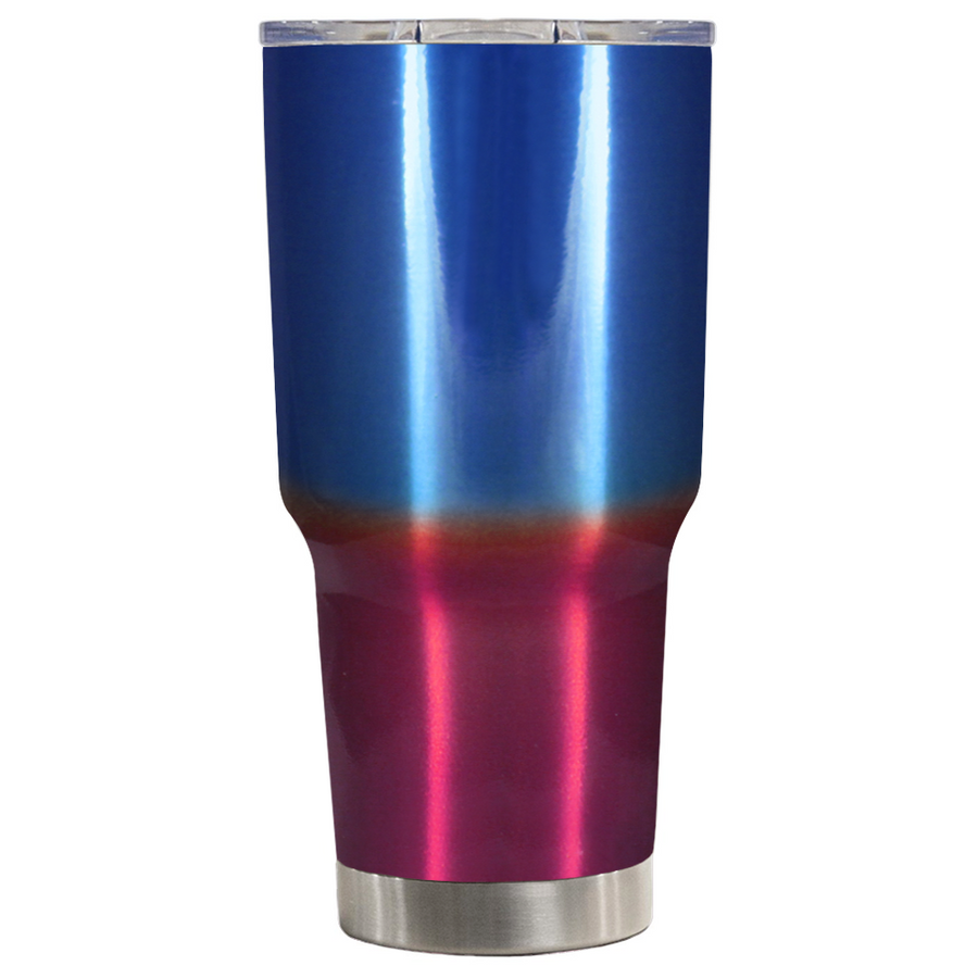TREK Blue Red Translucent Ombre 30 oz Tumbler