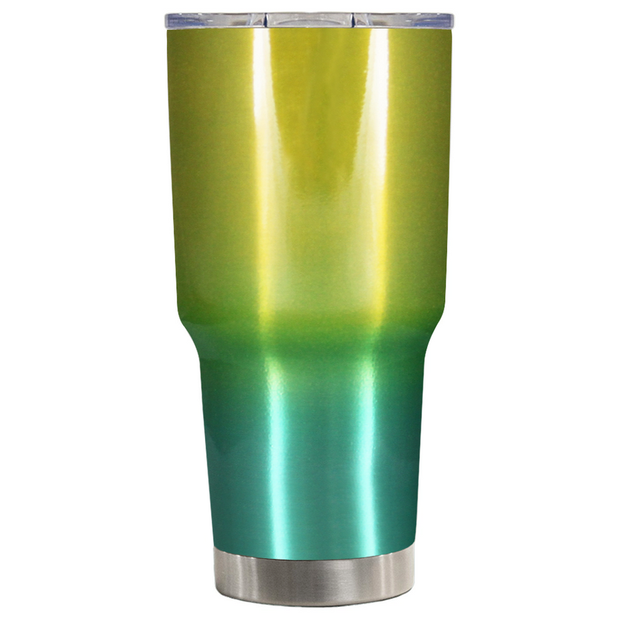 Custom TREK Yellow Green Translucent Ombre 30 oz Create Your Own Tumbler