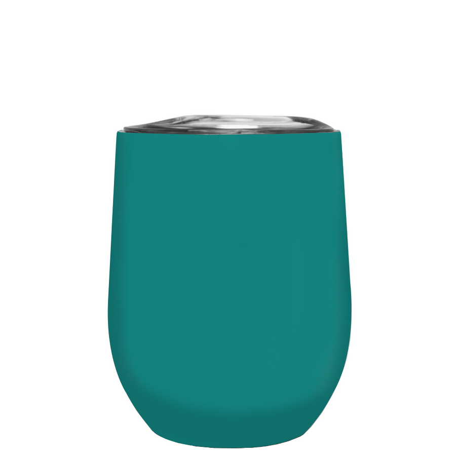 TREK Aqua Blue 12 oz Stemless Wine Stainless Steel Cup