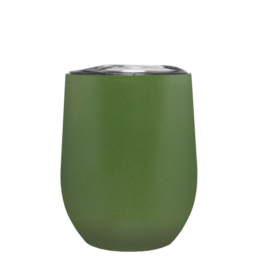 TREK Army Green 12 oz Stemless Wine Stainless Steel Cup