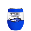 TREK Blue Gloss 12 oz Stemless Wine Stainless Steel Cup