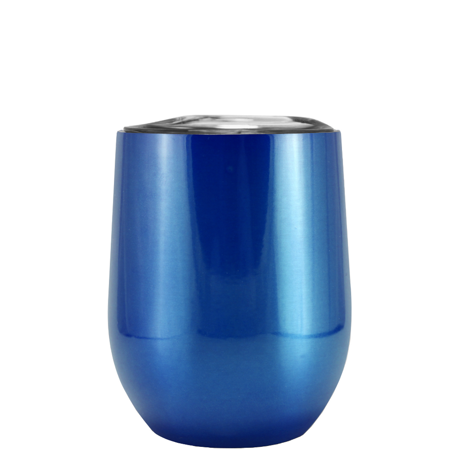 Custom TREK Translucent Blue 12 oz Stemless Wine Glass