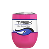 TREK Bright Pink 12 oz Stemless Wine Stainless Steel Cup