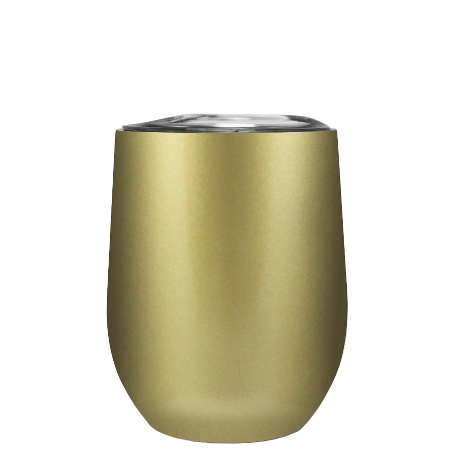 TREK Gold 12 oz Stemless Wine Stainless Steel Cup