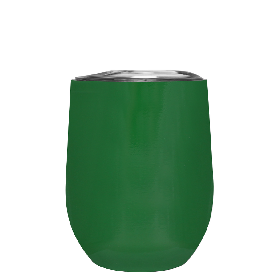 TREK Green Gloss 12 oz Stemless Wine Stainless Steel Cup