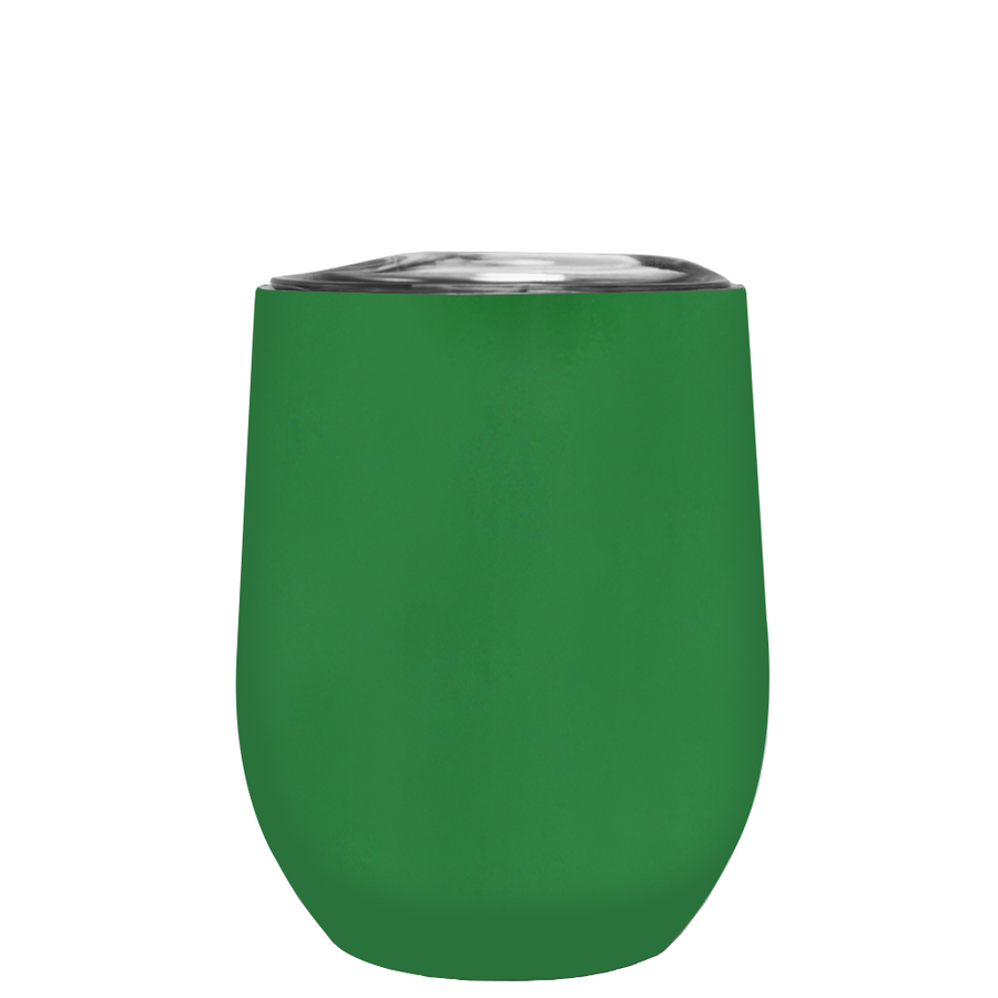 TREK Kelly Green 12 oz Stemless Wine Stainless Steel Cup