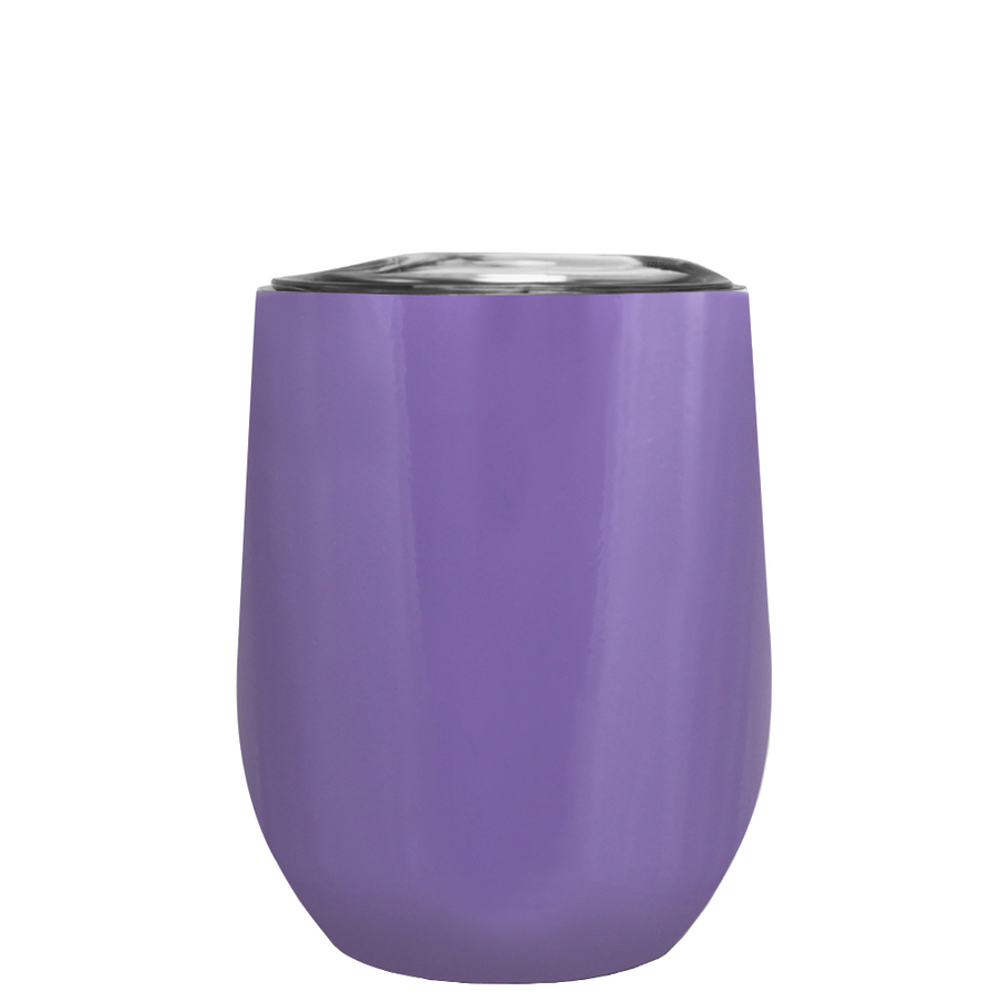 TREK Lavender 12 oz Stemless Wine Stainless Steel Cup