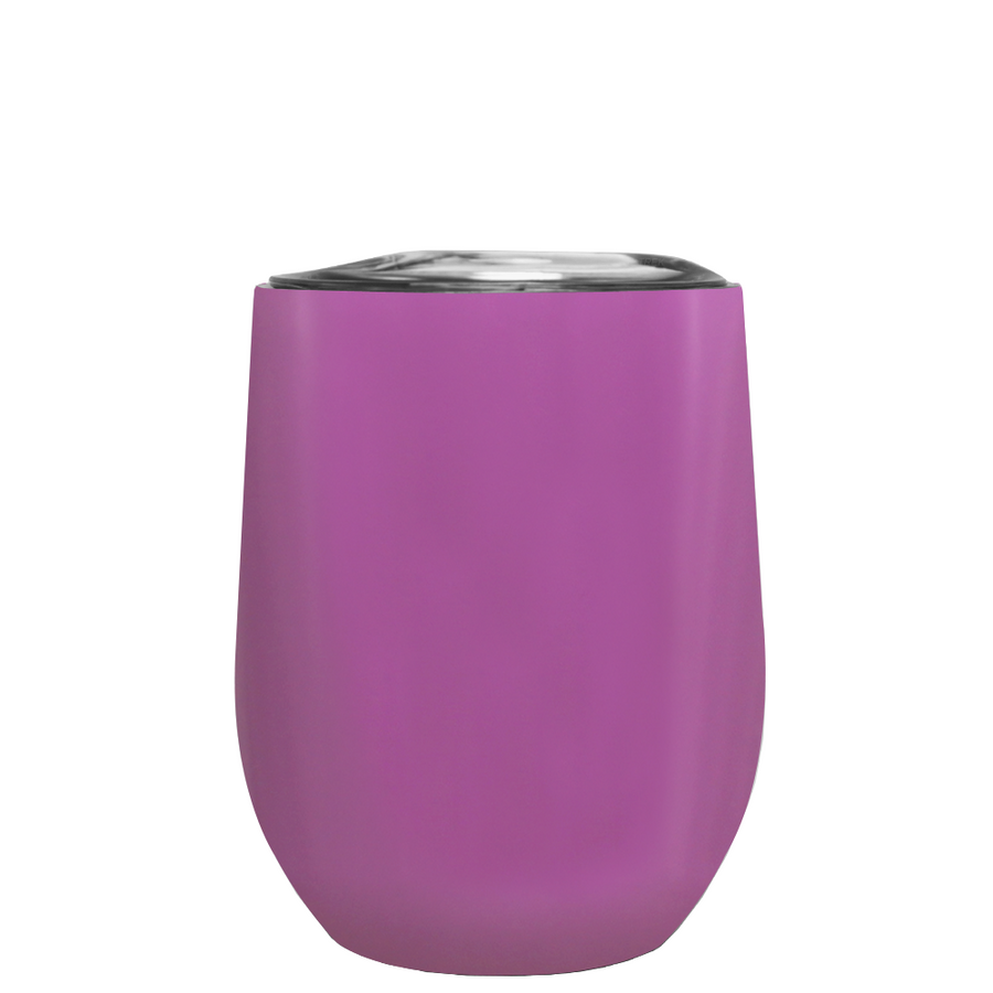 TREK Light Violet 12 oz Stemless Wine Stainless Steel Cup