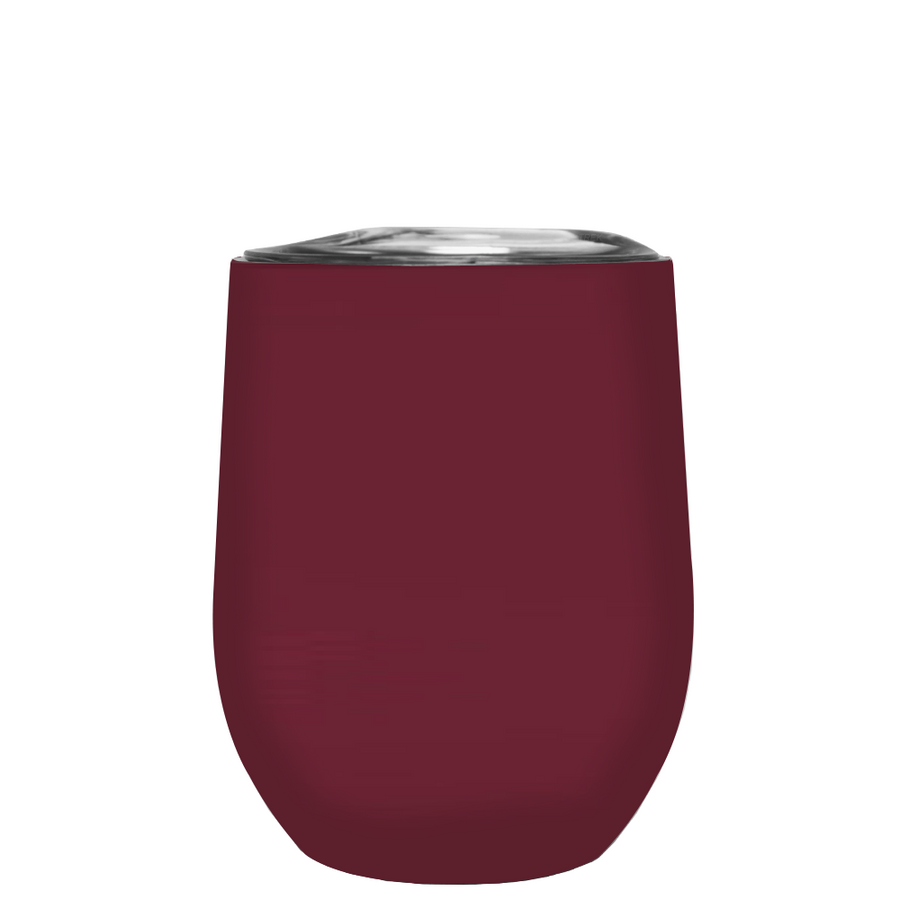 TREK Maroon 12 oz Stemless Wine Stainless Steel Cup
