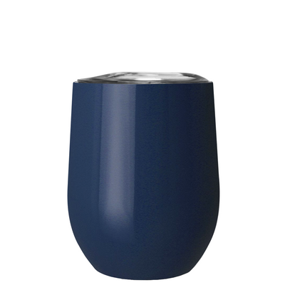 TREK Navy Blue 12 oz Stemless Wine Stainless Steel Cup