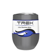 TREK Oil Slick Black 12 oz Stemless Wine Stainless Steel Cup