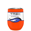 TREK Orange Gloss 12 oz Stemless Wine Stainless Steel Cup