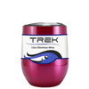 Custom TREK Translucent Pink 12 oz Stemless Wine Glass
