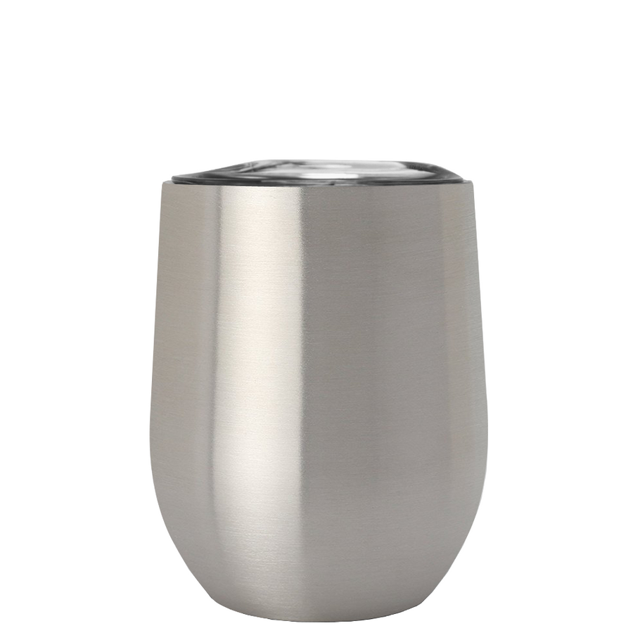 TREK 12 oz Stemless Wine Stainless Steel Cup