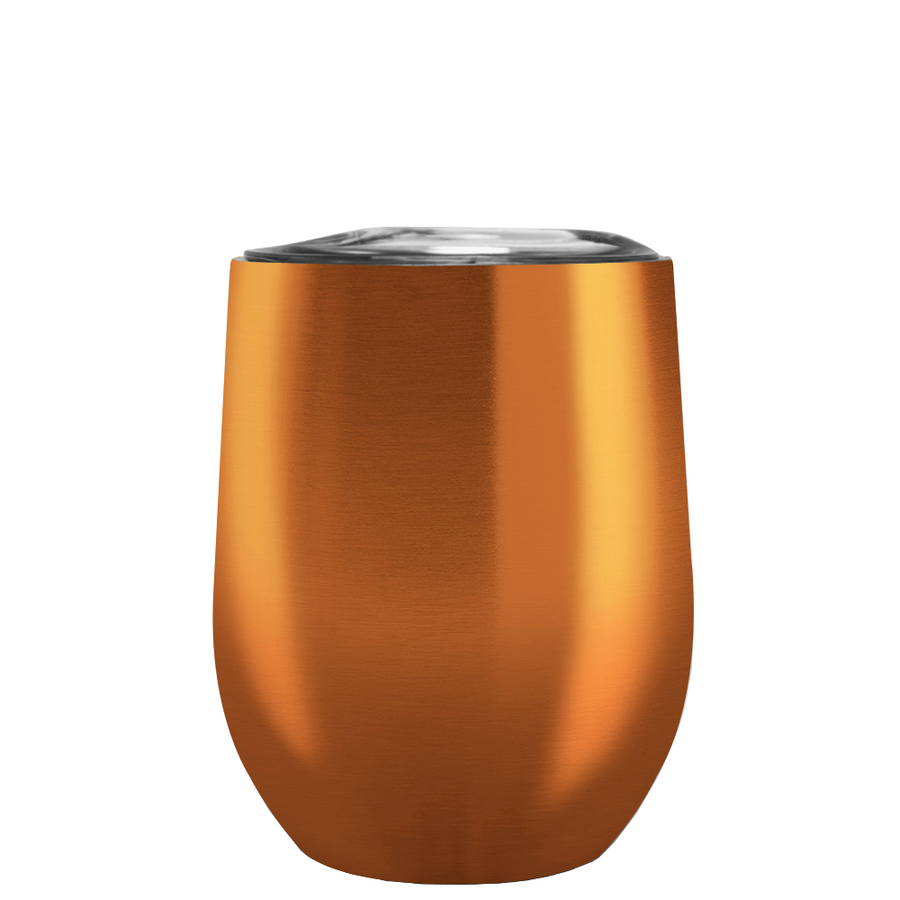 Custom TREK Translucent Copper 12 oz Stemless Wine Glass