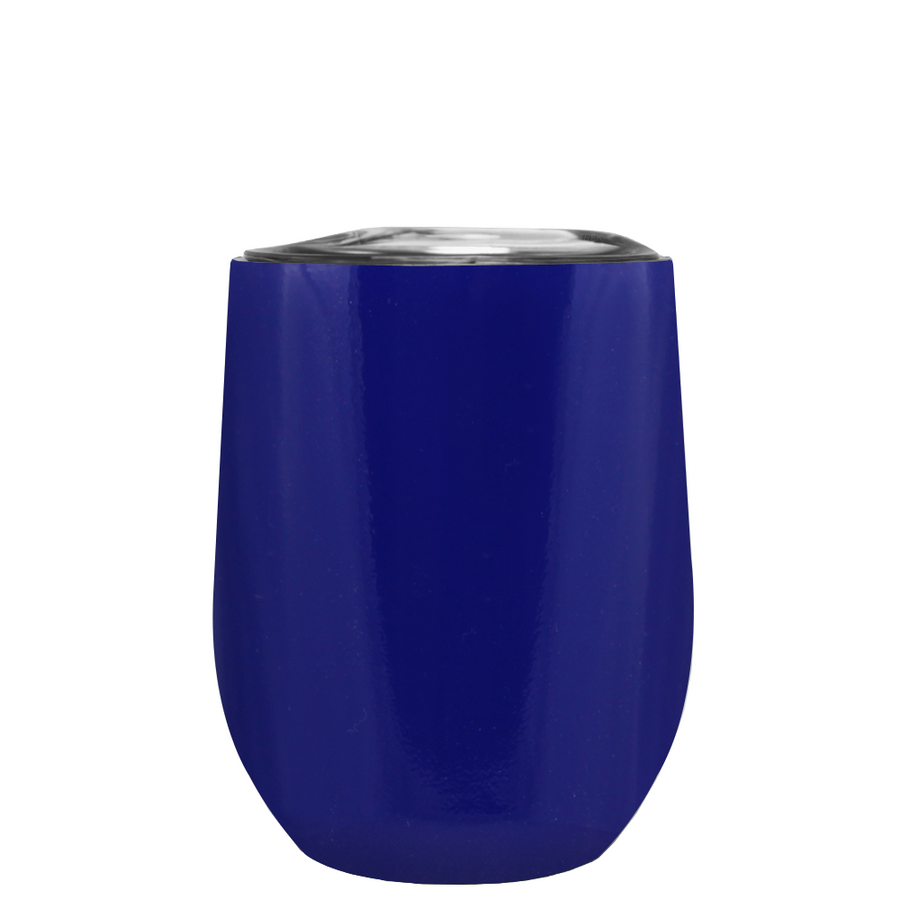 Custom TREK Ultramarine Blue 12 oz Stemless Wine Glass