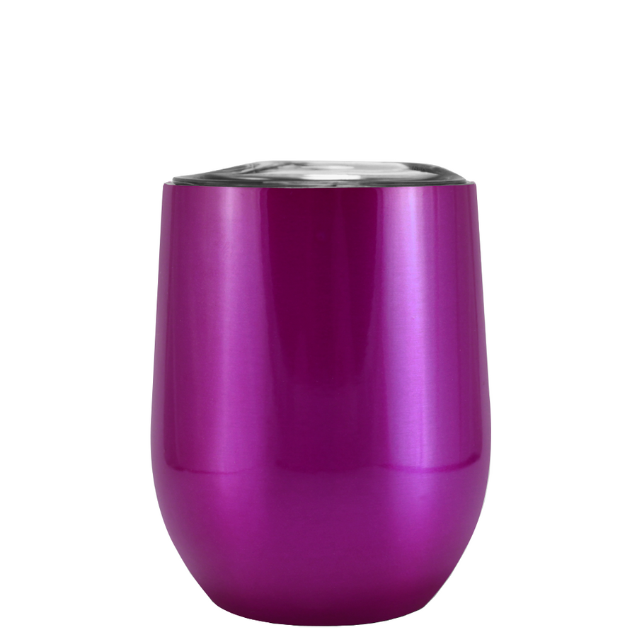 Custom TREK Translucent Violet 12 oz Stemless Wine Glass