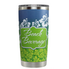 Beach Beverage on Hawaiian Flowers 20 oz Tumbler