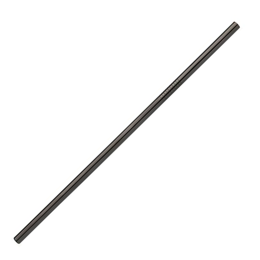 TREK Black Stainless Steel Straight Straw