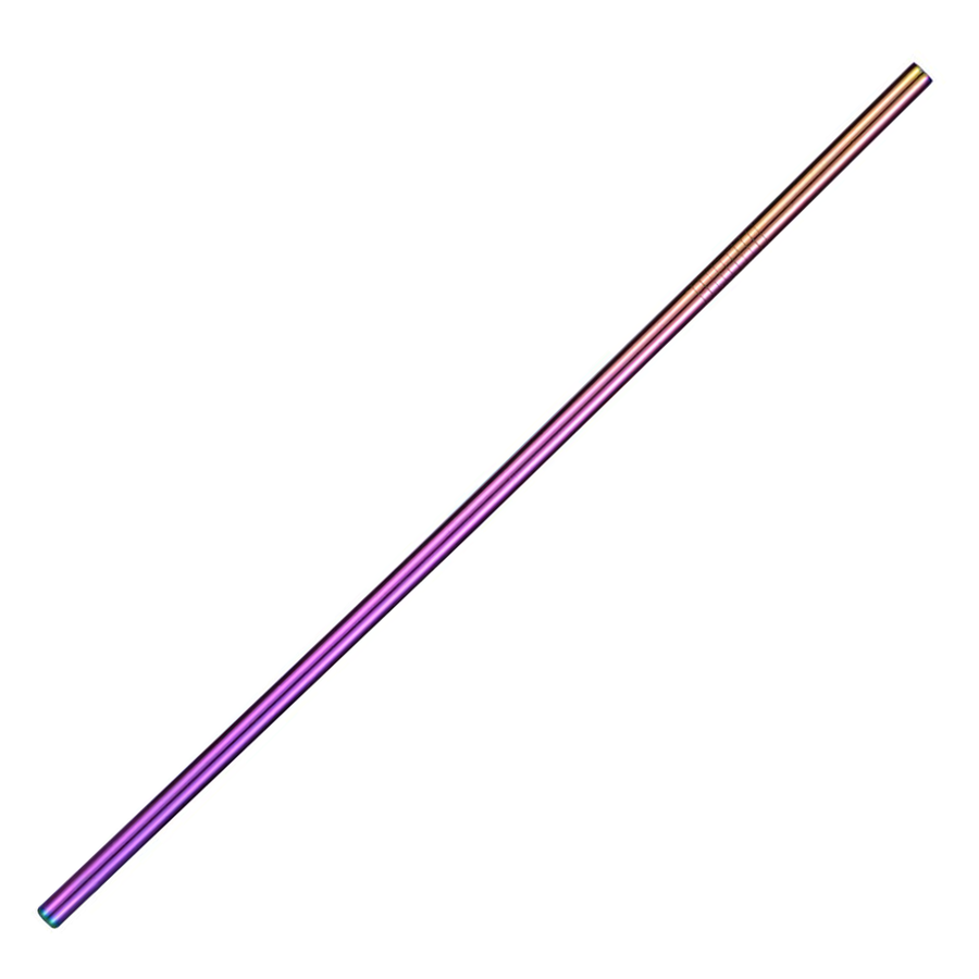 TREK Multicolor Rainbow Stainless Steel Straight Straw