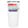 YETI American Flag Watercolors on White 20 oz on Tumbler Rambler