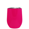 Age Gets Better with Wine on Hot Pink 12 oz Stemless Wine Tumbler