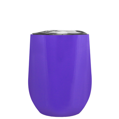 Age Gets Better with Wine on Purple 12 oz Stemless Wine Tumbler