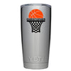 YETI 20 oz Basketball Hoop Personalized Design Tumbler