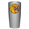 YETI 20 oz Basketball Monogram Design Tumbler