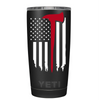 YETI FireFighter Axe Thin Red Line Flag on Black 20 oz Tumbler
